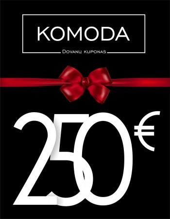 Kinkekaart väärtusega kakssada viiskümmend eurot
