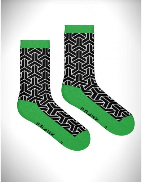 Bamboo waka crew sock Green