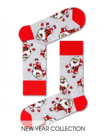 """Men's Socks """"Santa Grey Funny"""""""