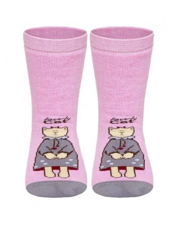 "Children's socks ""Pretty Tootsies Pink"""