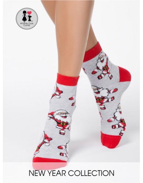 """Moteriškos kojinaitės """"Happy Santas"""""""