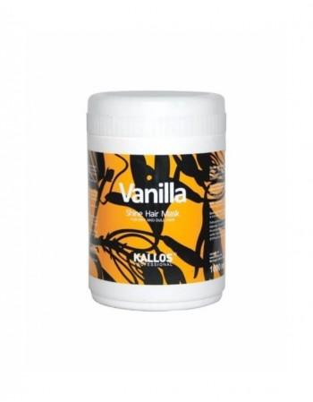 Plaukų kaukė KALLOS COSMETICS Vanilla suteikianti blizgesio