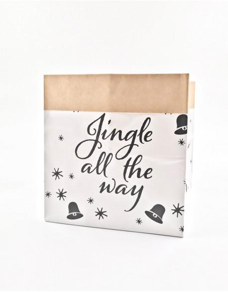 "Popierinis Krepšys ""Jingle All The Way"", 20 cm"