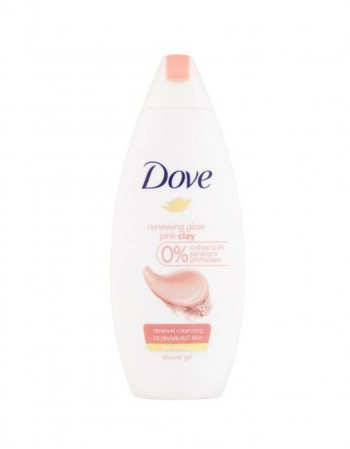 "Dušo Želė ""Dove Renewing Glow Pink Clay"", 250 ml"