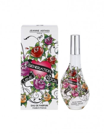 """Perfume For her JEANNE ARTHES """"Love Generation Rock"""" EDP 60 Ml"""