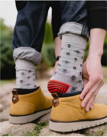"""Men's Socks """"Happy Grey"""""""