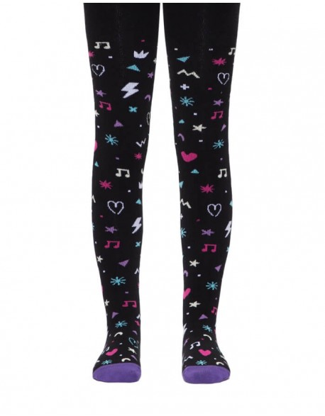 "Tights For Children ""Symbols Black"""