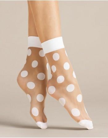"""Women's socks """"Virginia White"""" 20 Den"""