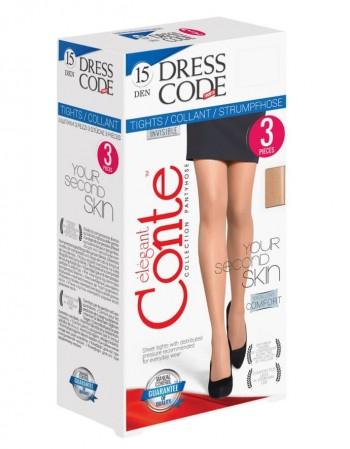"""Женские колготки """"Dress Code"""" 15 Den 3 штуки"""
