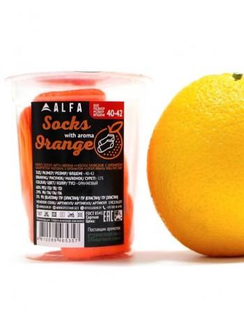 """Men's Socks """"Happy Orange"""""""