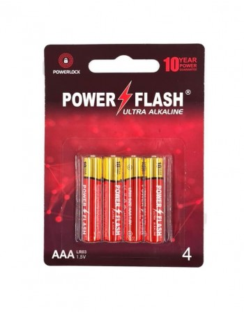 Batteries POWER FLASH AAA LR03 1,5V