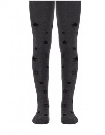 Tights for children ''Stars in Grey''