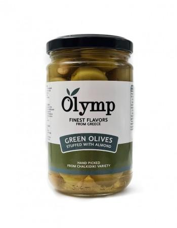 """Paprikapastaga täidetud rohelised oliivid """"Olymp"""" 300g"""