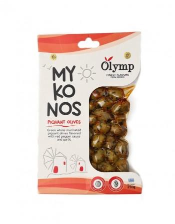 """Rohelised terved oliivid """"Olymp"""" marineeritud, 250 g"""