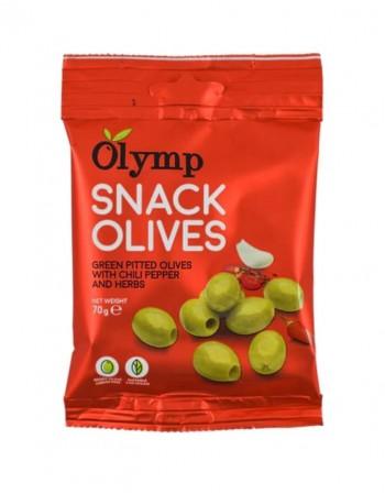 Rohelistest oliividest purustatud Olymp SNACK punase pipra ja ürtidega, 70 g