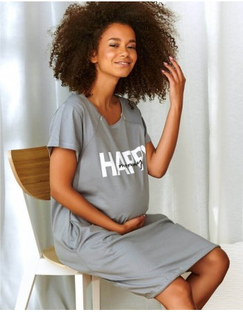 "Nightwear ""Happy Mommy Grey"""