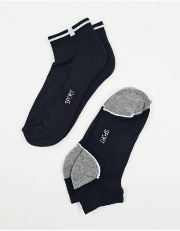 """Men's Socks """"Sneaker White"""",2 pairs"""