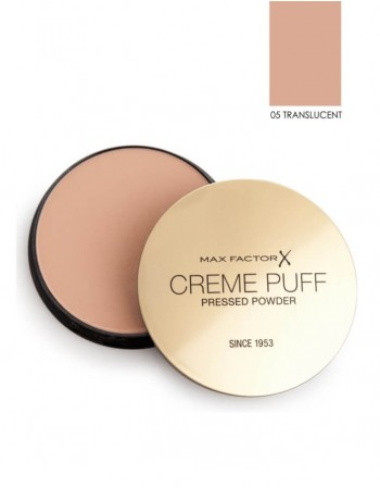"Compact Powder MAX FACTOR ""Creme Puff"", 05 Translucent, 21 g"