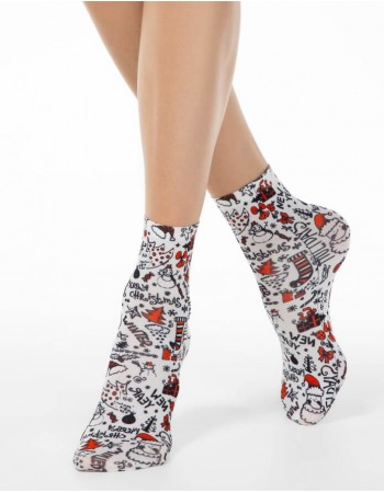 "Women's socks ""Happy New Year"""