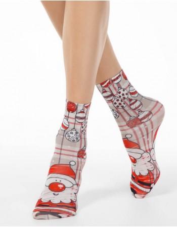 """Women's socks """"Funny Santa"""""""