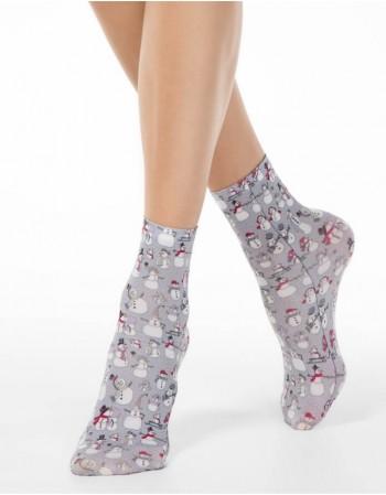 """Women's socks """"Happy Snowman"""""""